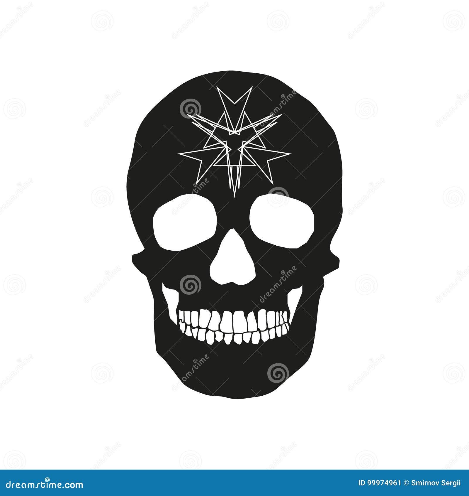 Human Remains Of The Skull Bones Stock Illustration Illustration