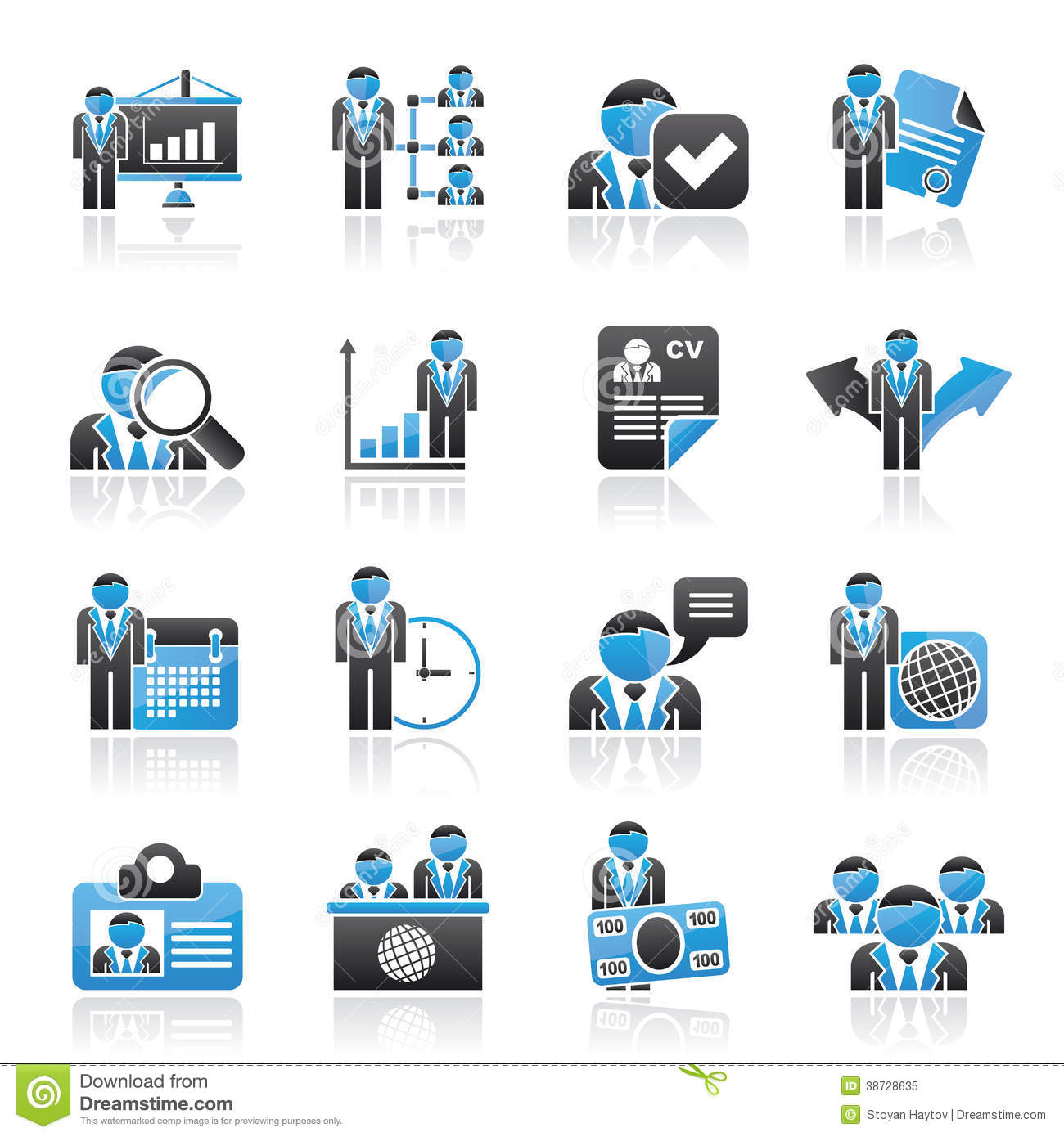 Human Resource And Employment Icons Royalty Free Stock