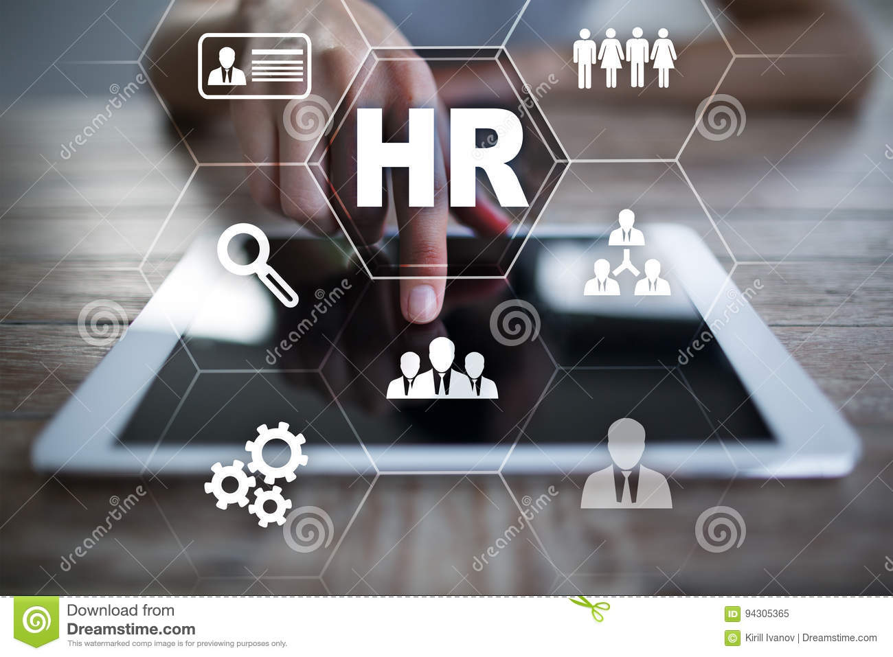 Human resource management, HR, recruitment and teambuilding. Business concept.