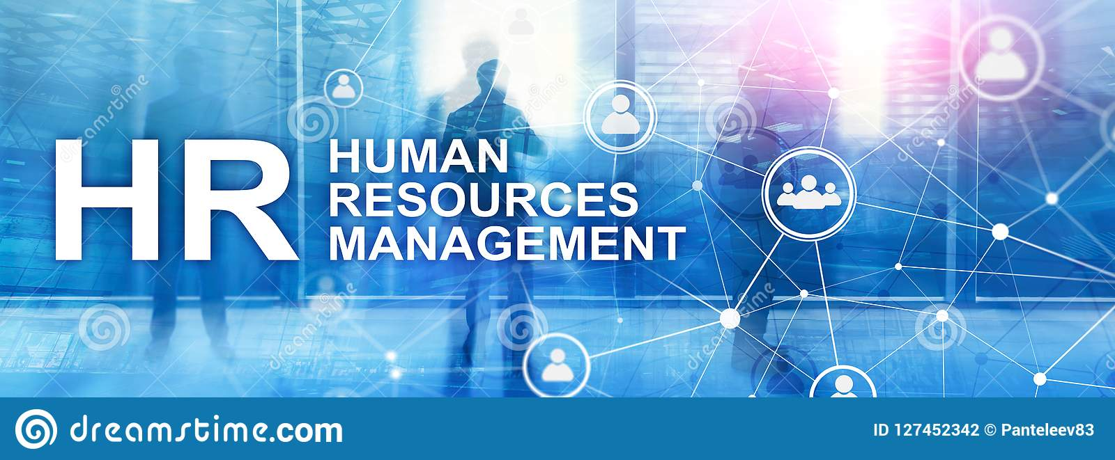 Human resource management, HR, Team Building and recruitment concept on blurred background