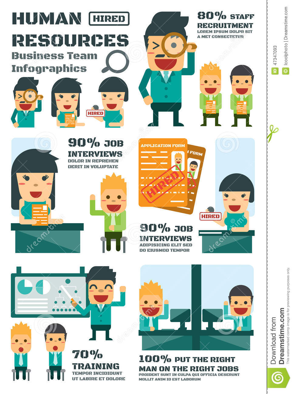 human resources business team stock vector
