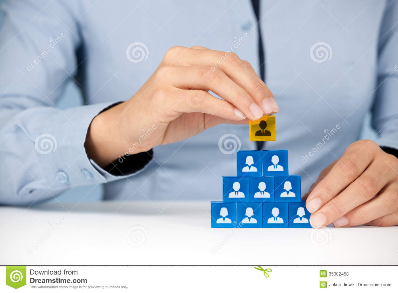 Human Resources And CEO Royalty Free Stock
