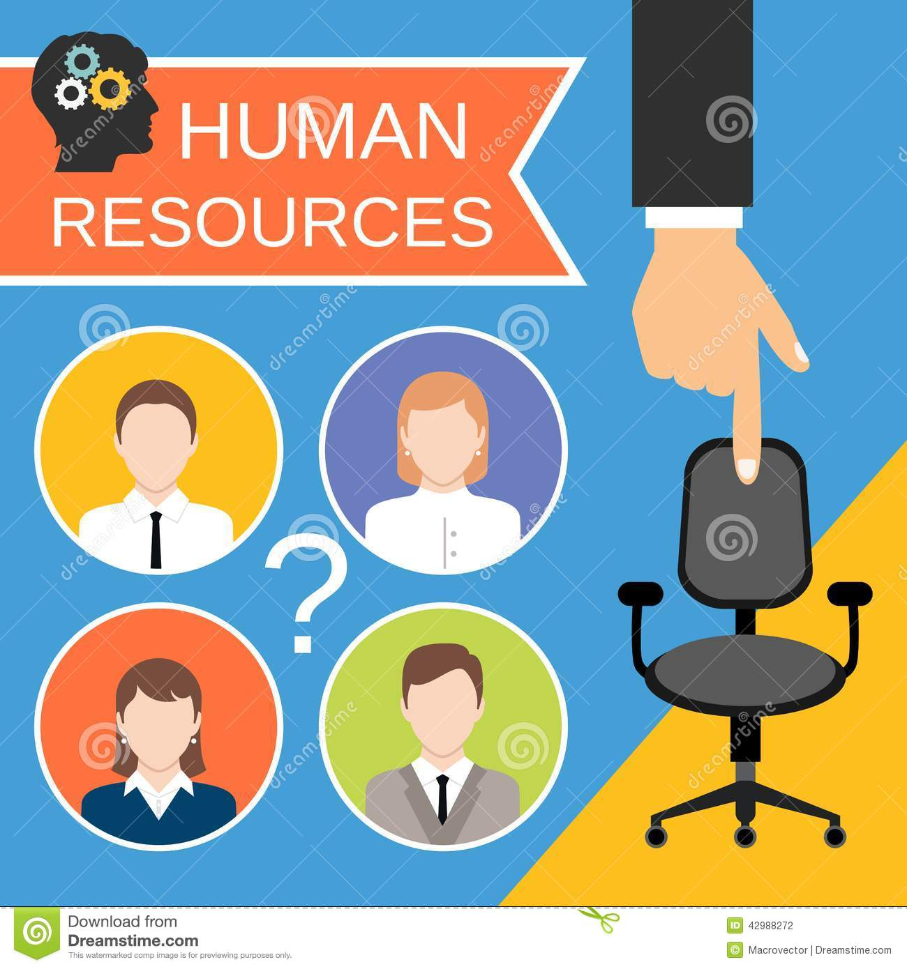 Human Resources: Human Resources Concept Stock Vector