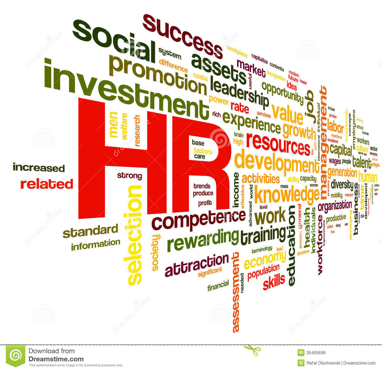 Human Resources Concept In Tag Cloud Stock Illustration