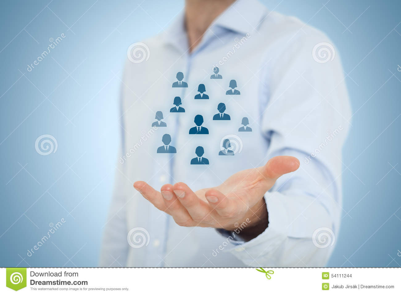Human Resources And Customer Care Stock Illustration ...