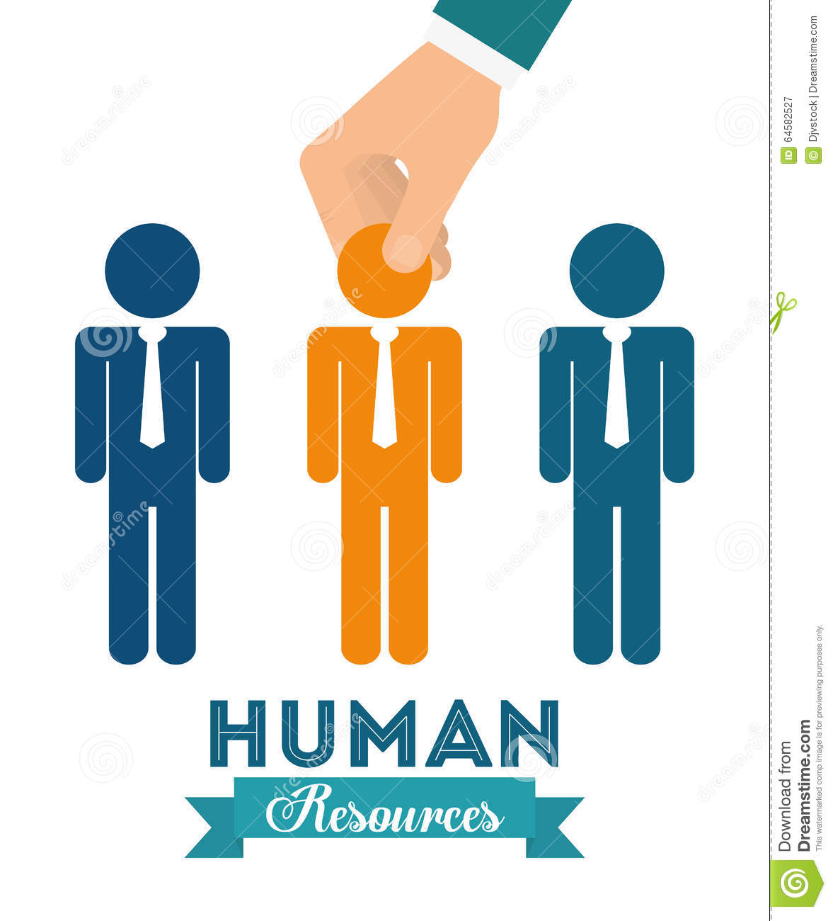 Human Resources: Human Resources Design Stock Vector. Illustration Of