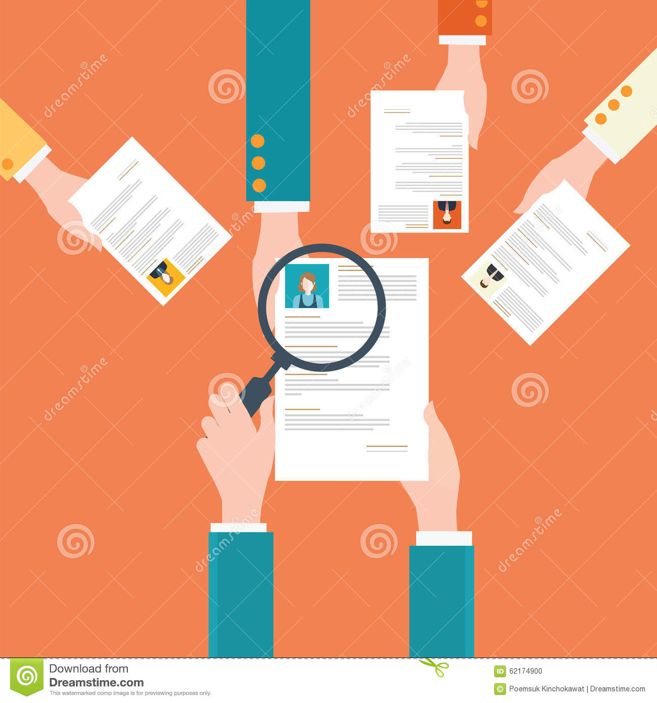 human resources design  stock photo