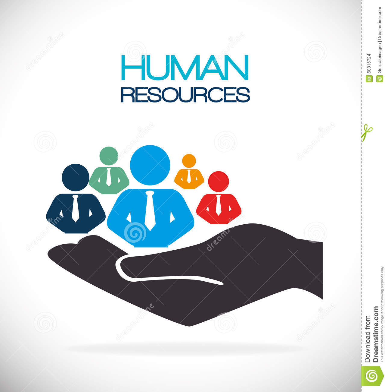 Human Resources: Human Resources Business Conceptual Royalty-Free Stock