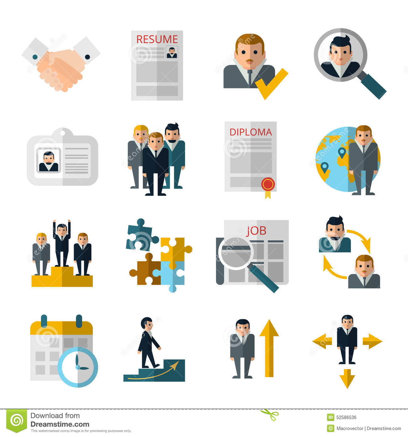 human resources icons vector illustration