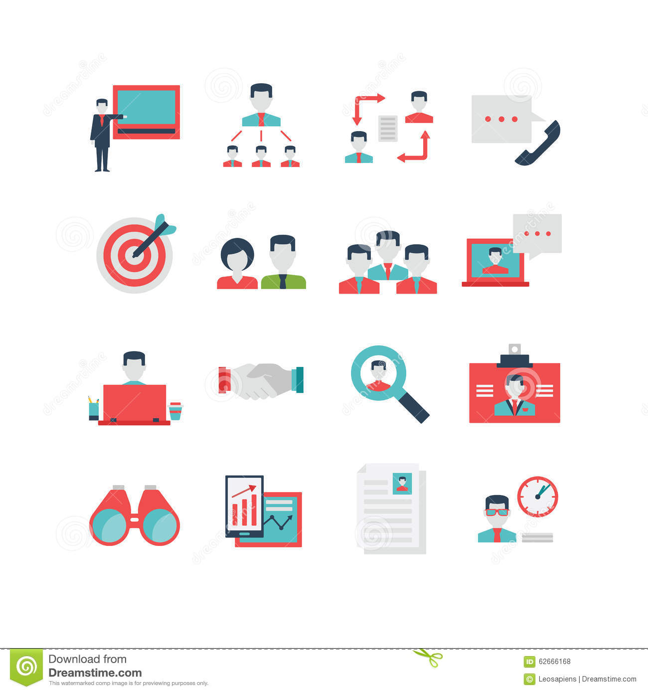human resources icon set stock vector