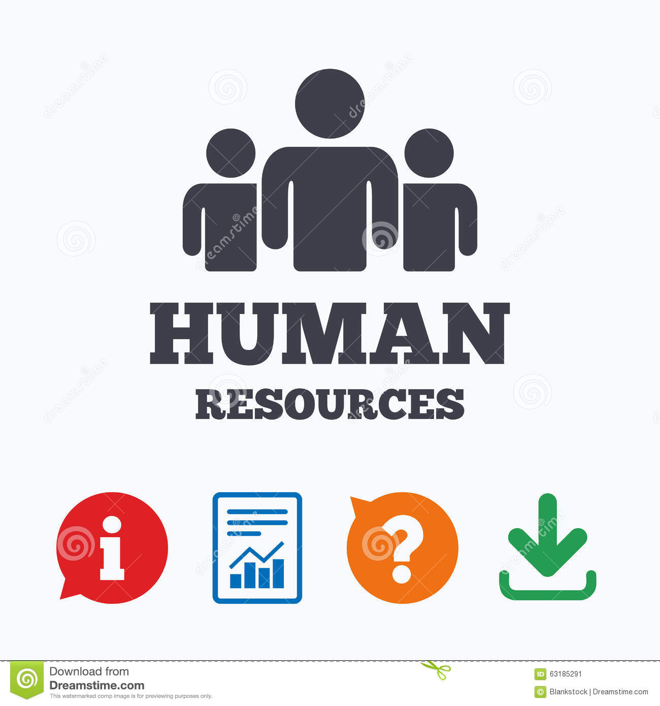 Human Resources Sign Icon Hr Symbol Stock Vector Image