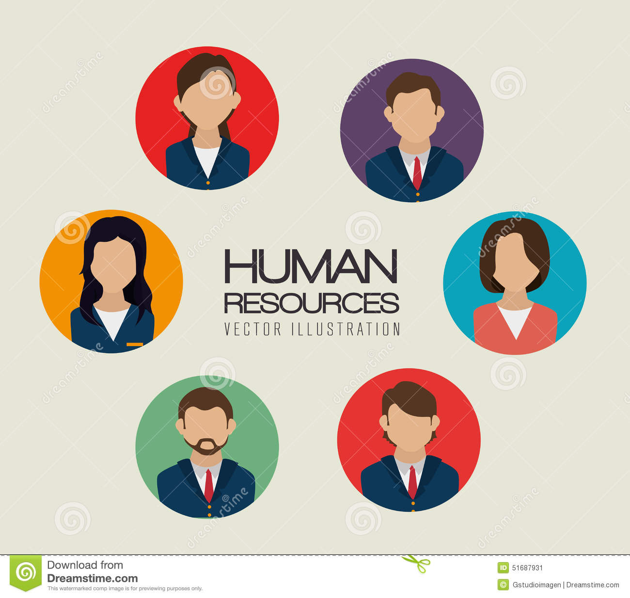 Human Resources: Human Resources Vector