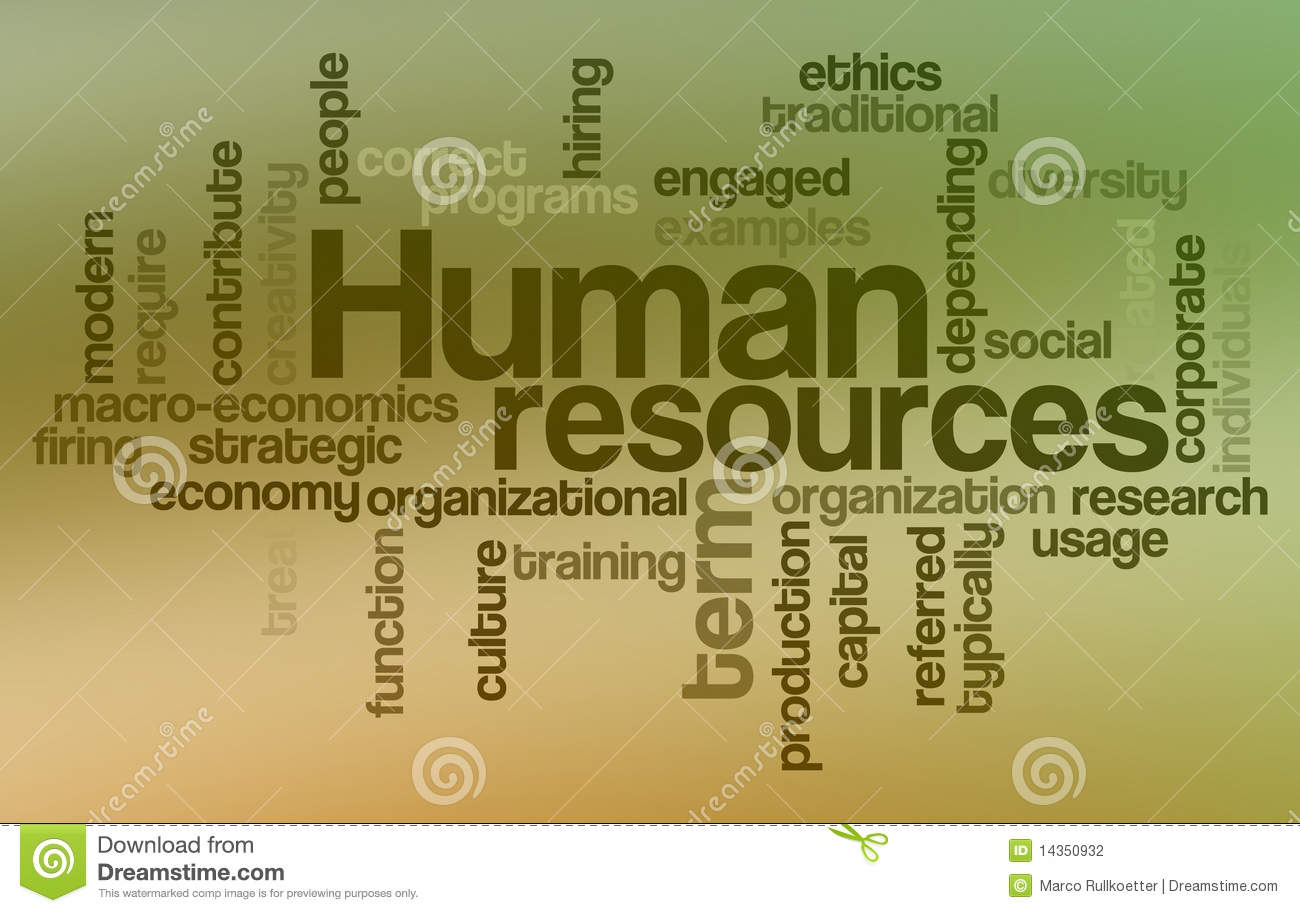 human resources word cloud stock illustration image