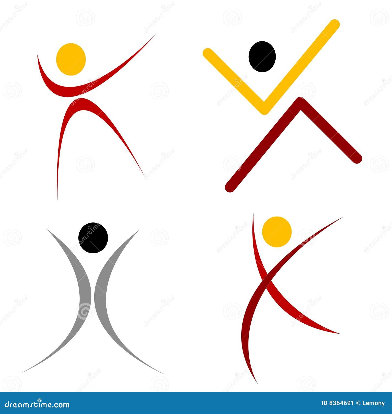 Human shape logo stock image image 8364691