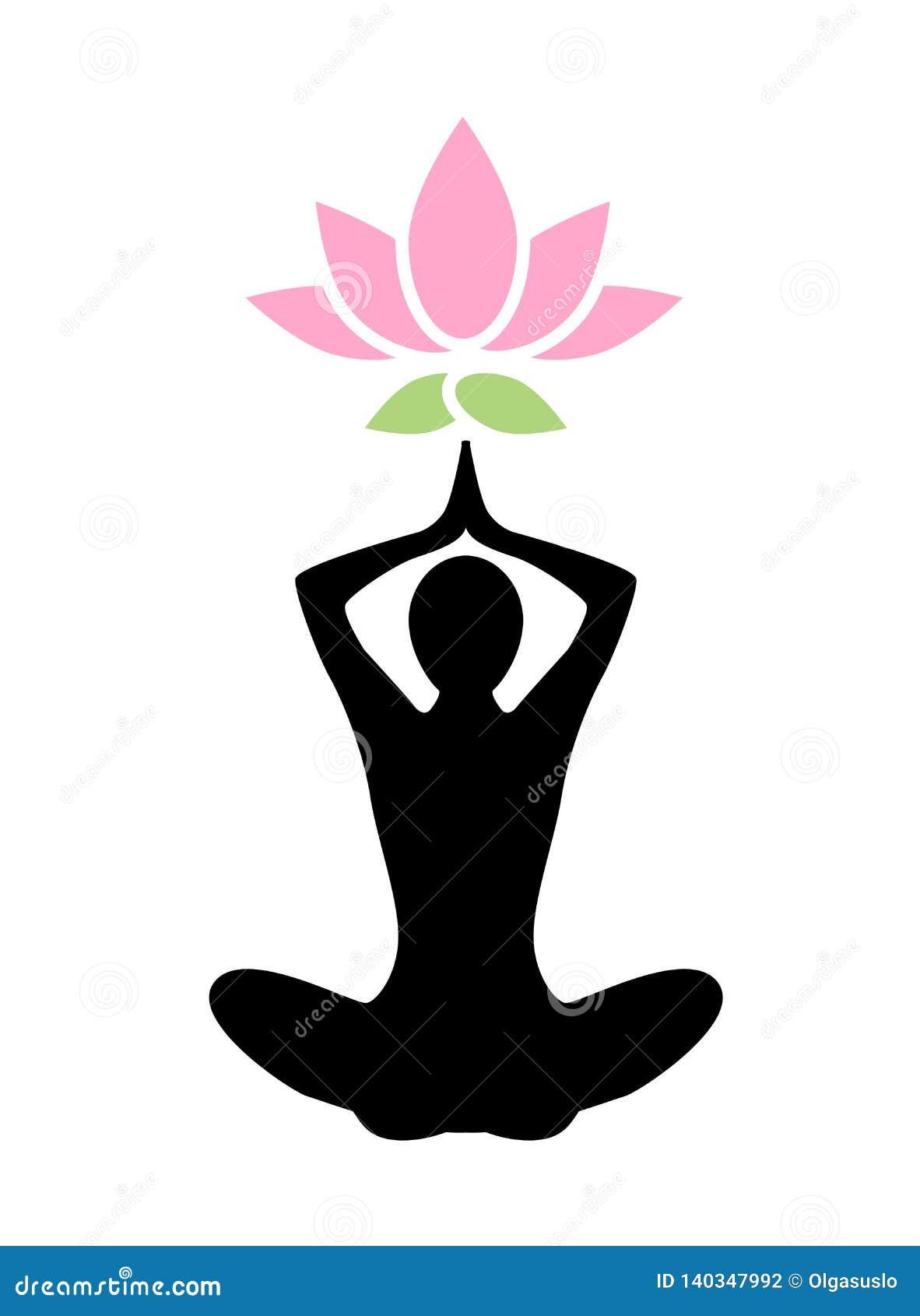 Yoga Lotus Icon Stock Vector Illustration Of Indian 140347992