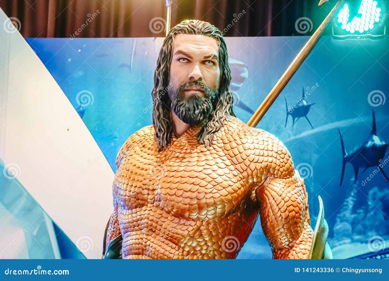 Human Size Statue Of A Dc Comic Superhero Arthur Curry Or Aquaman