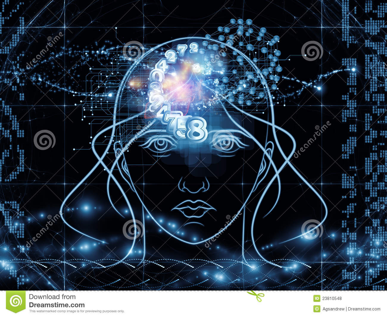 technology human abstract subject head numbers modern digital background science outlines interplay elements lights revolution scientific royalty hacker skull attack