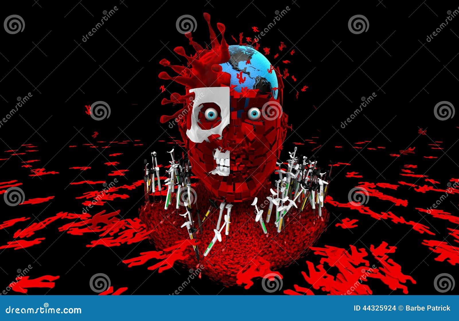 Humanidad de la matanza de los virus Get vacunó Lucha contra el virus