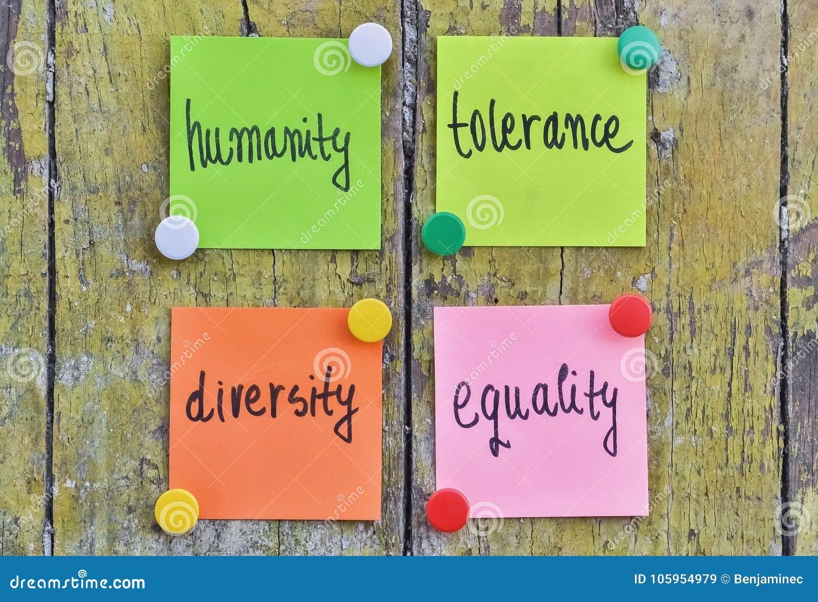Humanité et tolérance