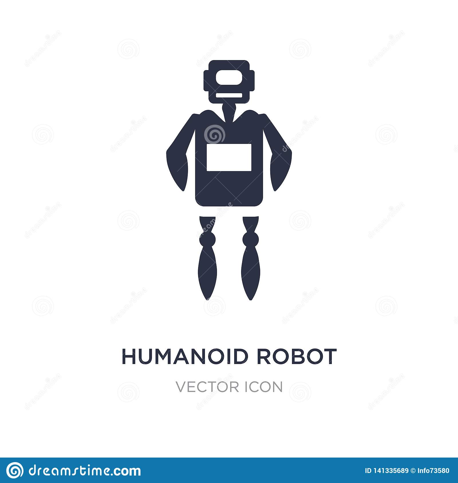 humanoid robot icon on white background. Simple element illustration from Technology concept