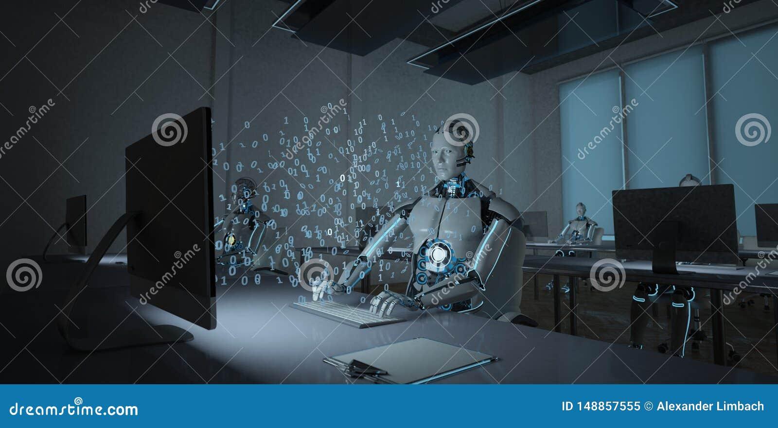 Humanoid Roboter-Büro
