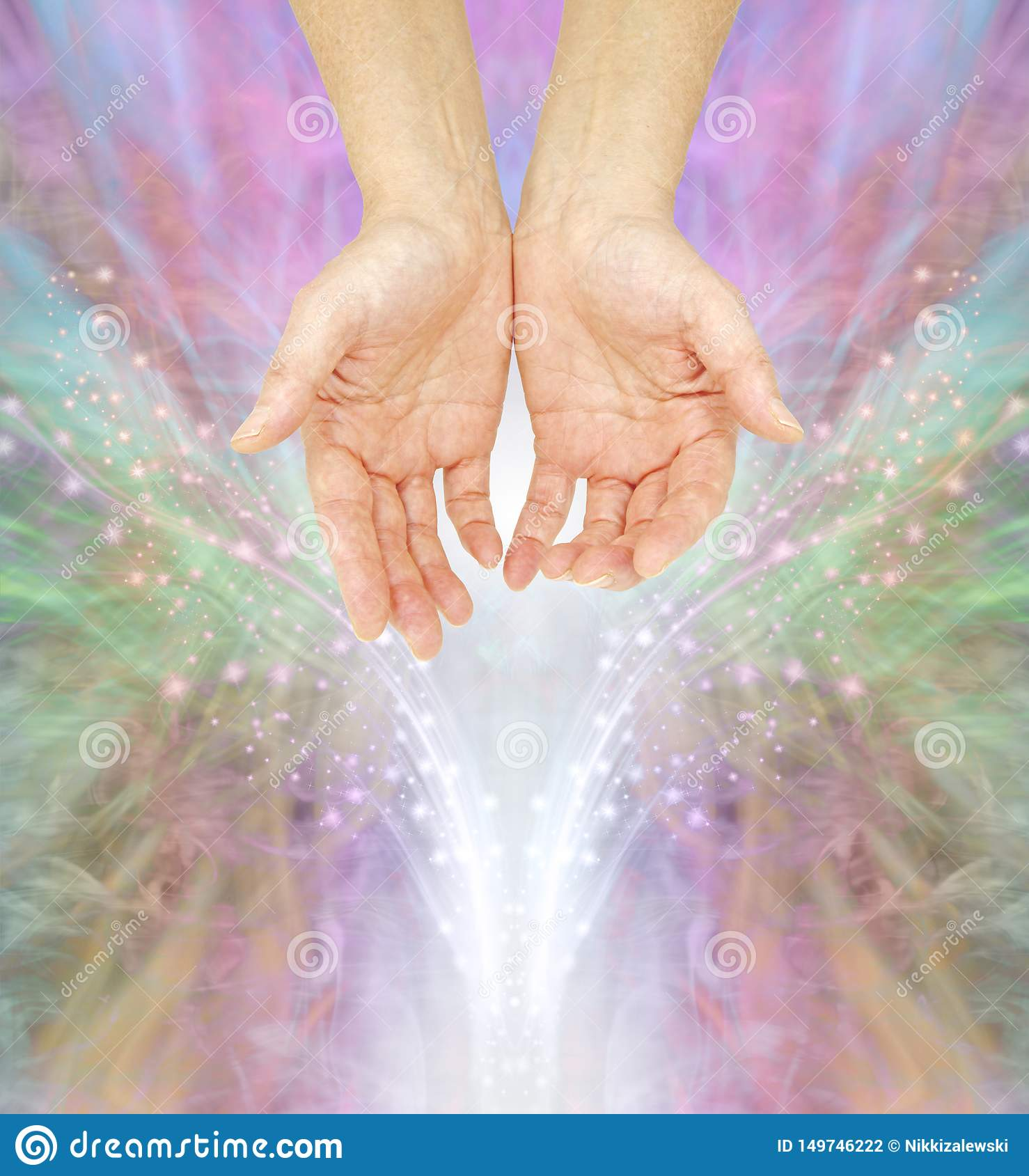 The humble hands of a Spiritual Healing Practitioner