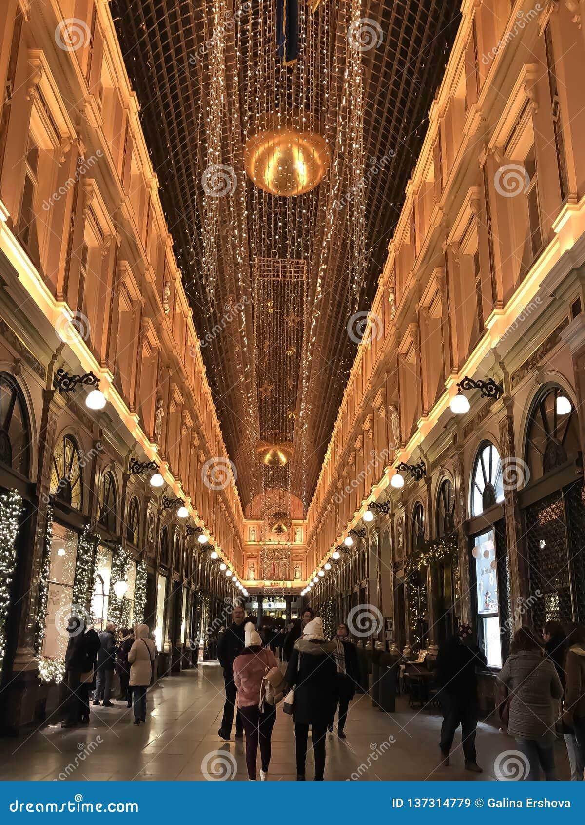 Humeur de Christmass dans la ville européenne