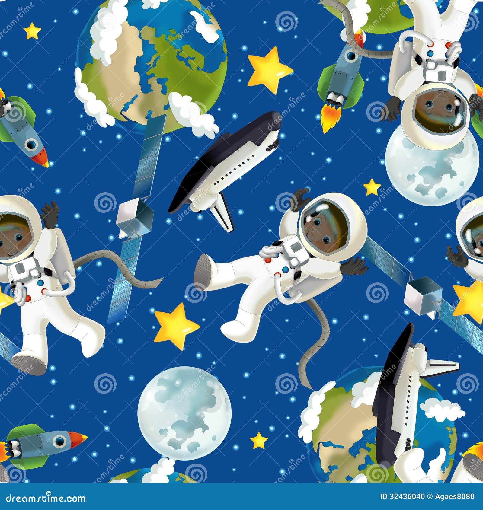 Humeur heureuse et dr le du voyage de l 39 espace - Dibujos infantiles del espacio ...