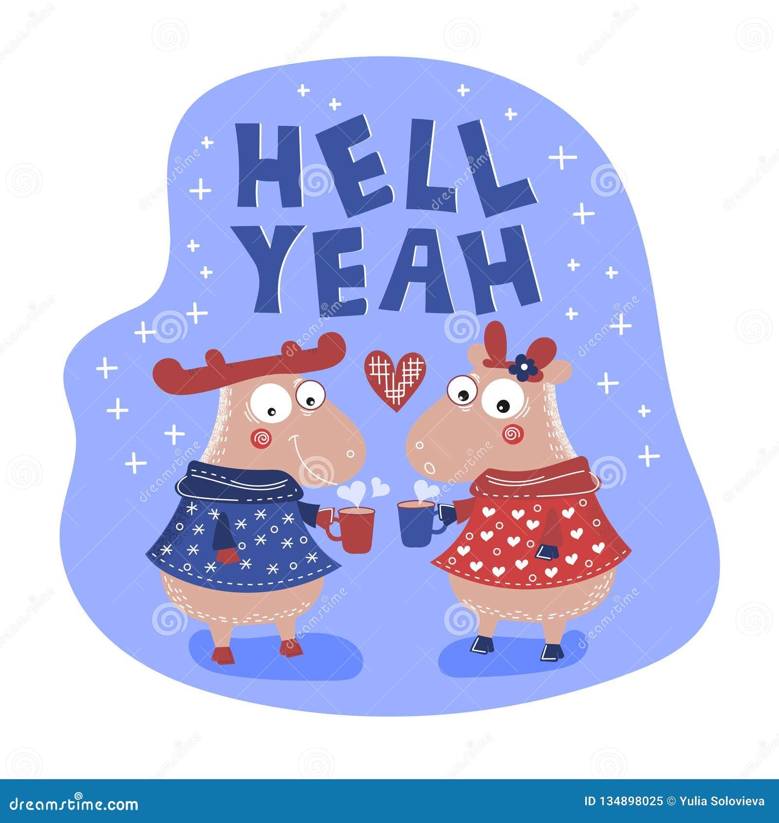 HUMEUR Valentine Cartoon Animal Set de THÉ