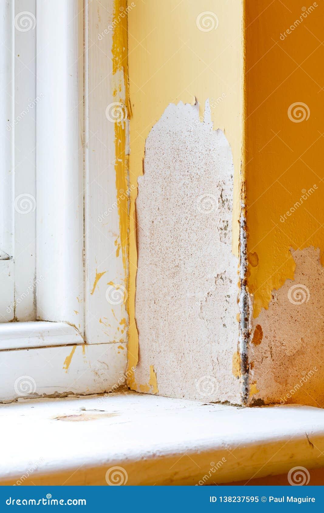 Humidité dans le mur de maison