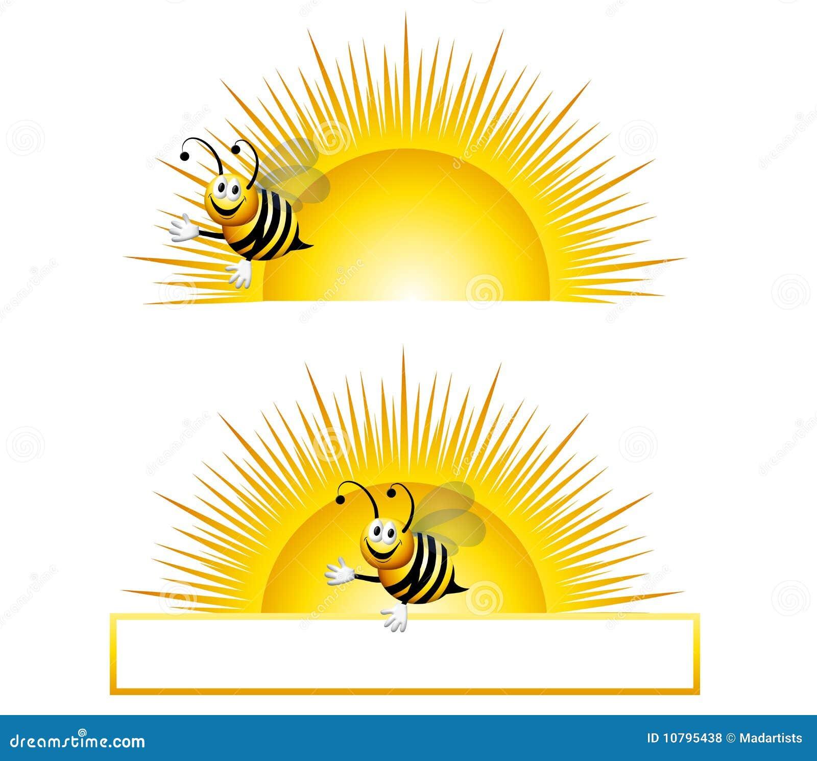 Download Hummel-Sonnenaufgang stock abbildung. Illustration von sonnig - 10795438