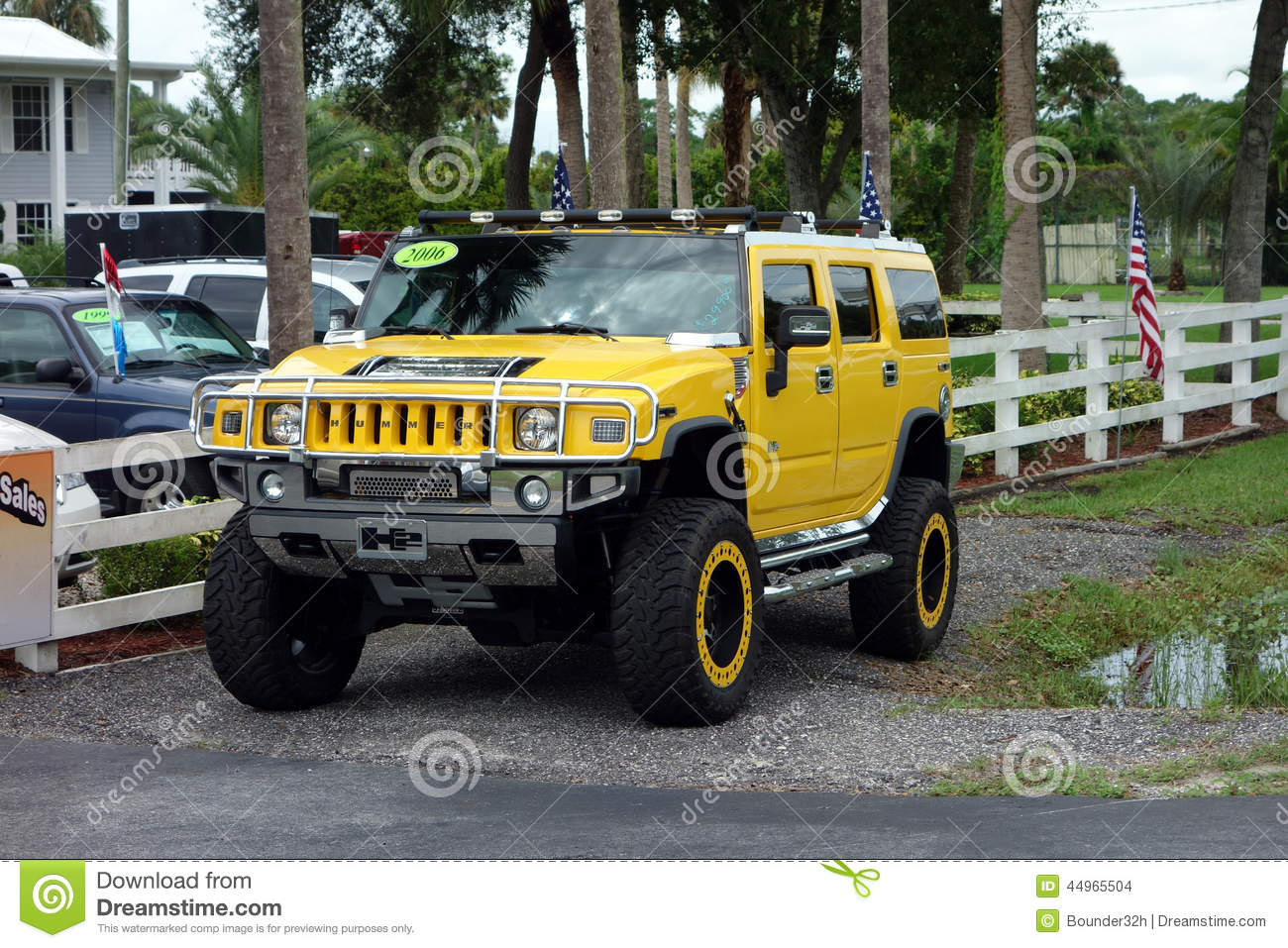 A Hummer For Sale In America Editorial Stock Image - Image of black ...