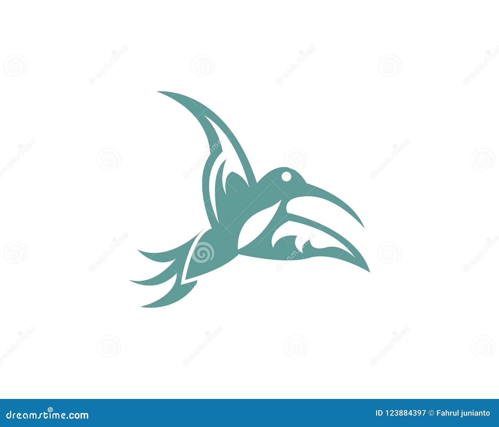 humming bird logo template stock vector illustration of travel