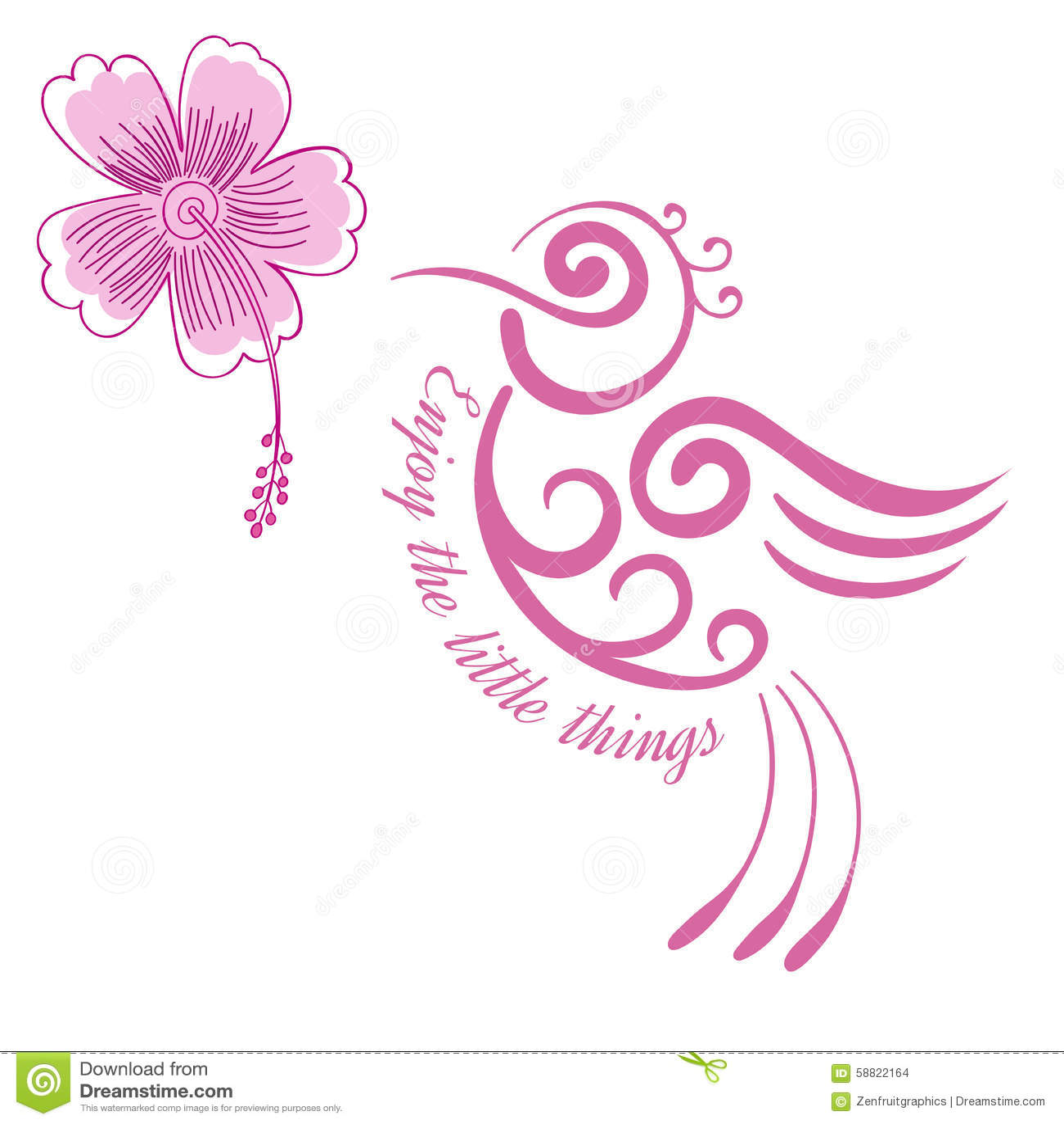 Hummingbird Flower Inspirational Quote Motivational Poster Stylized