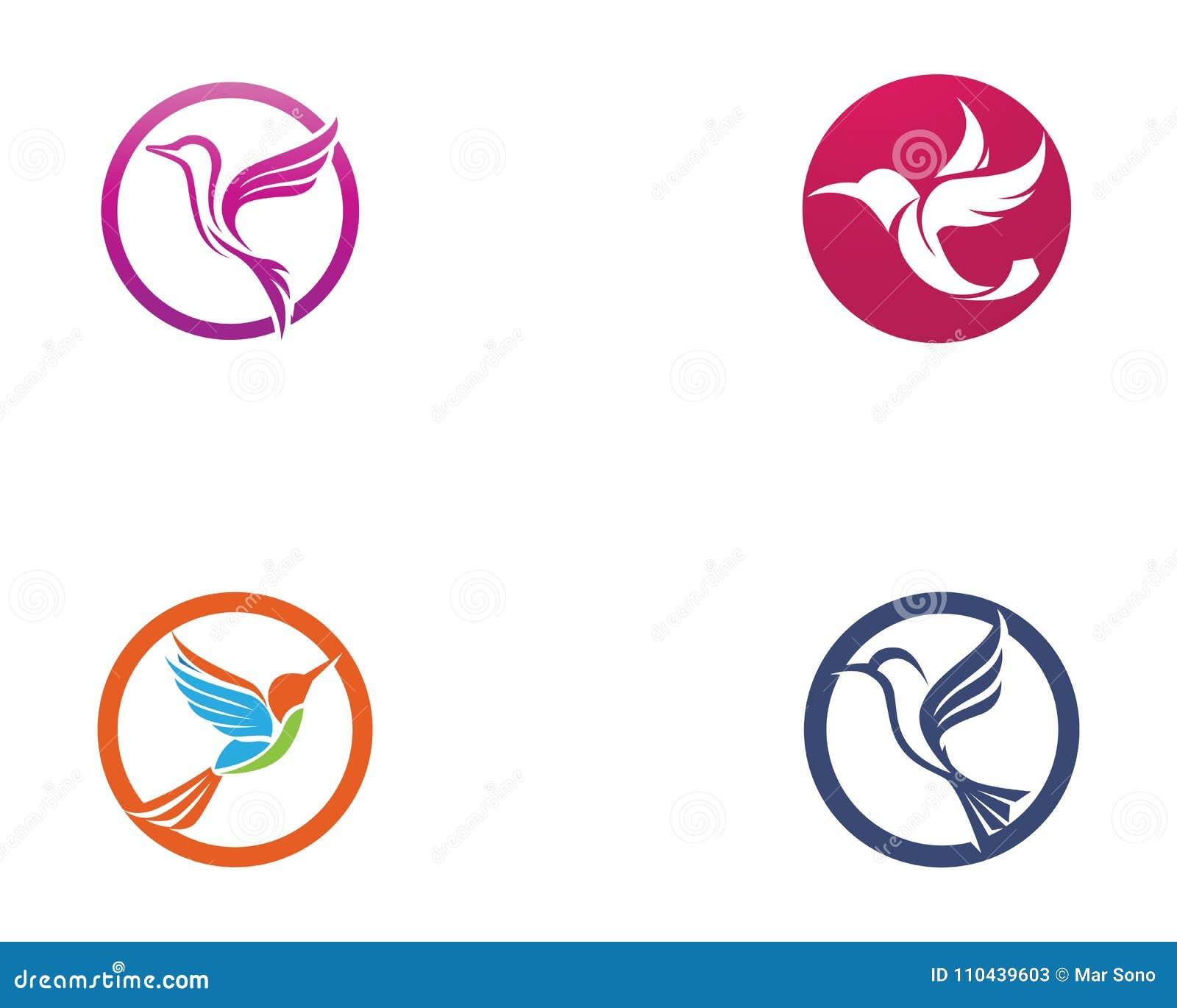 Hummingbird Icon Logo And Symbols Template Vector Stock Vector