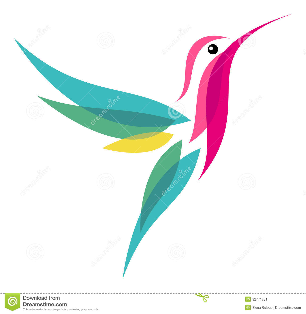 Hummingbird Stock Vector. Image Of Illustration, Animal