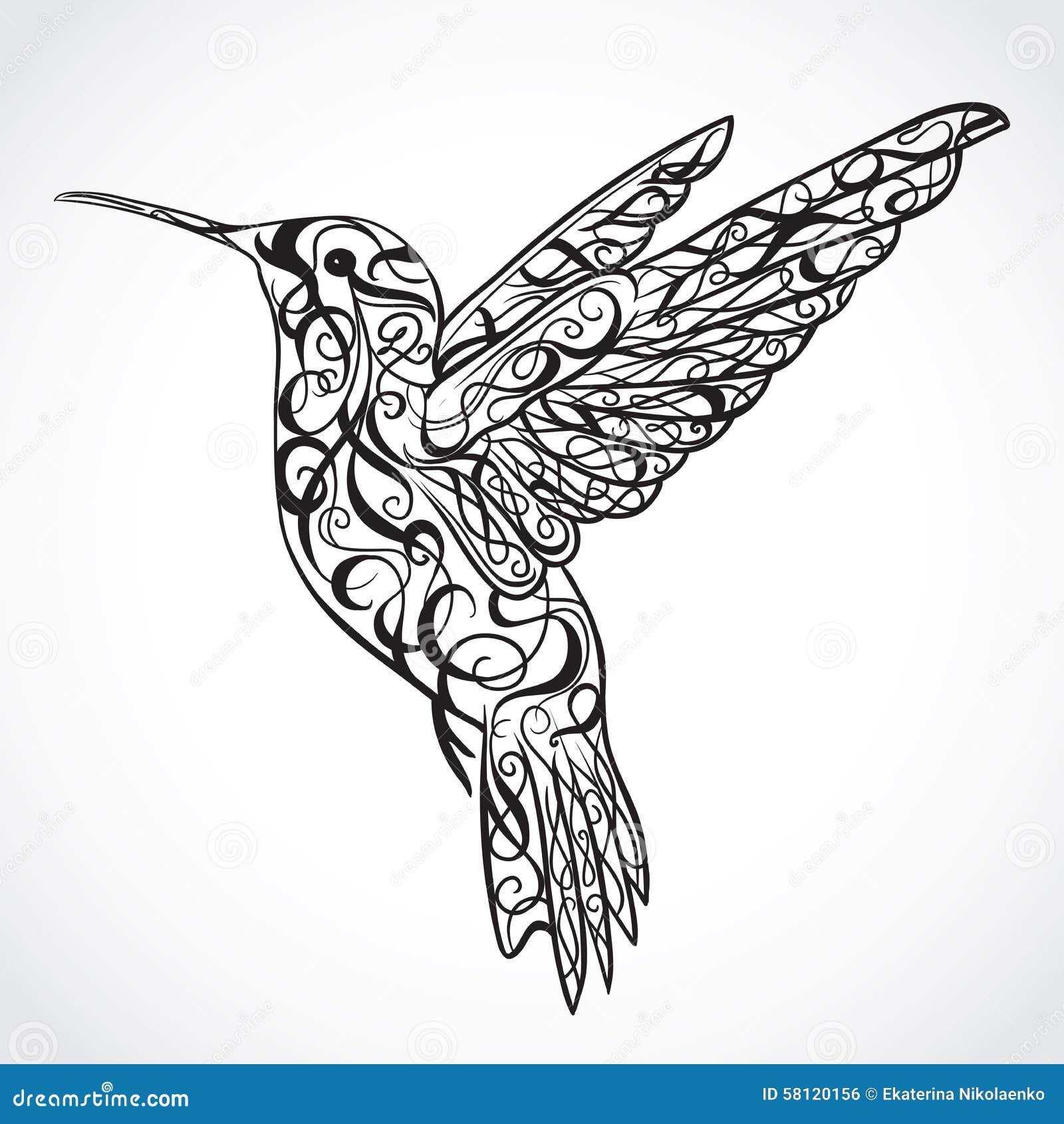 Colibri Tattoo Uomo hummingbird tatuaggio art retro insegna, invito, carta