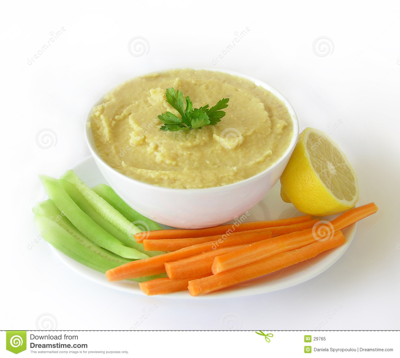Download Hummus stock image. Image of middle, garbanzo, carrots, houmus - 29765