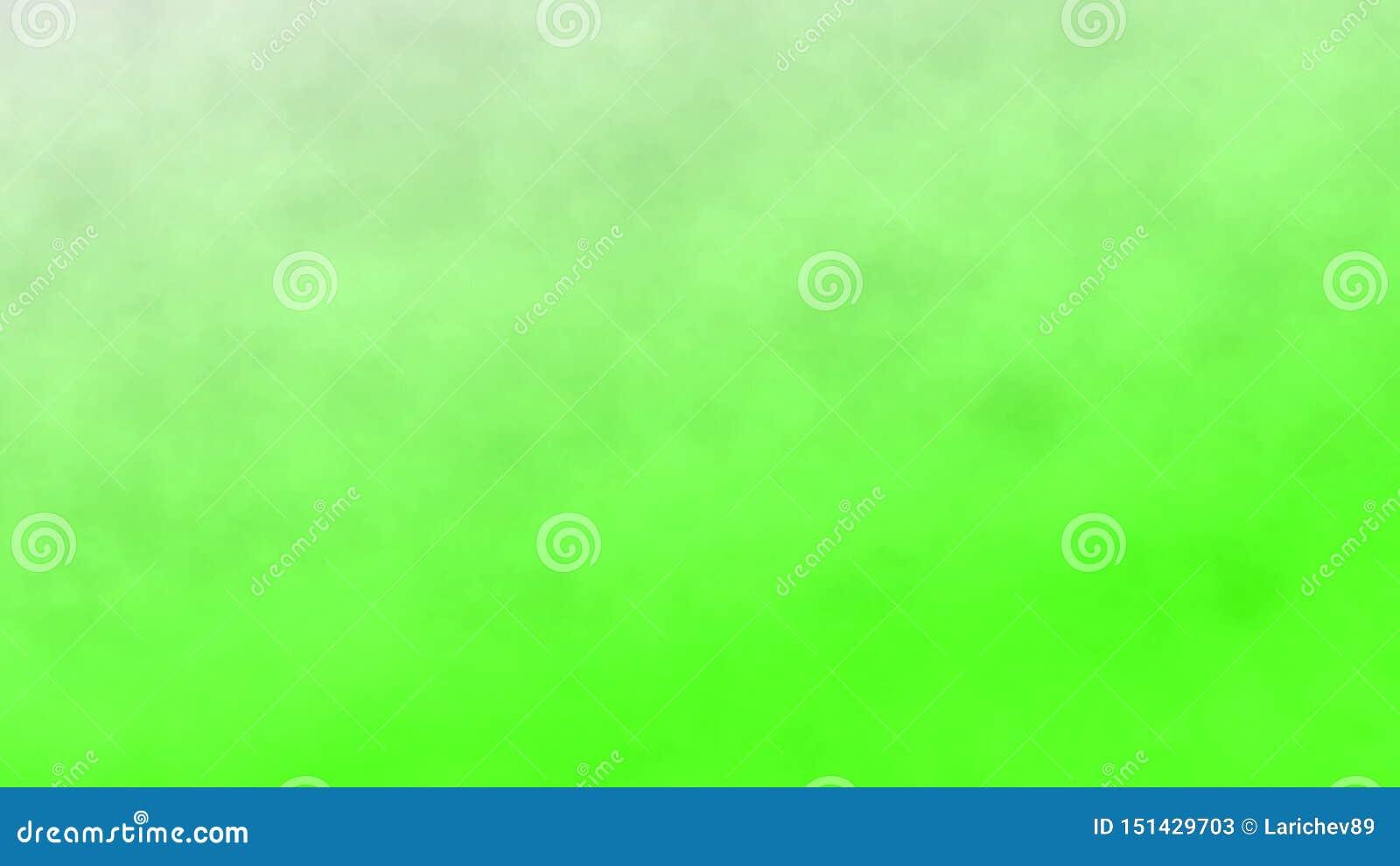 Humo en un fondo de pantalla verde, fondo abstracto ilustraci?n 3D