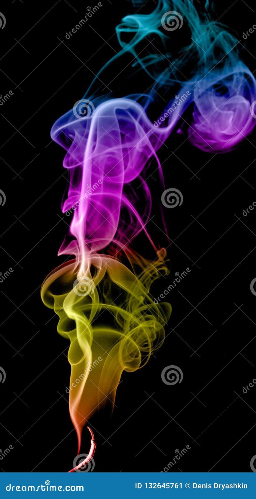 Humo multicolor abstracto