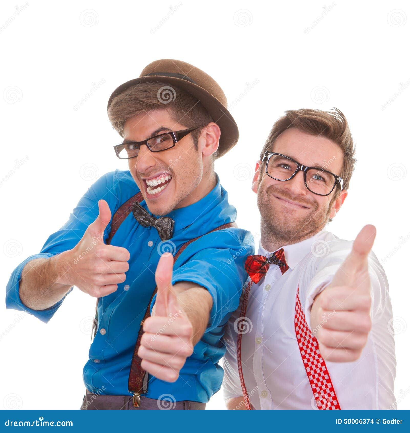 Humor, biznesowi mężczyzna z aprobatami dla sukcesu