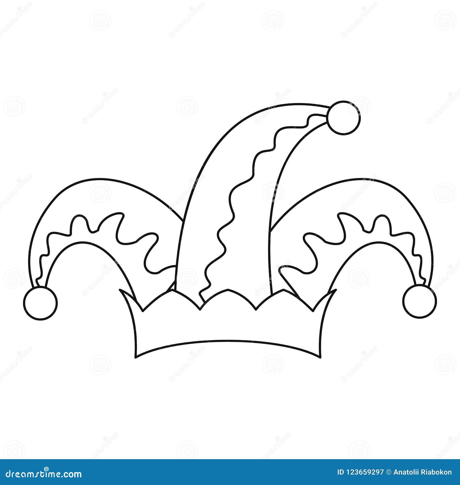 Humor kapeluszowa dzwonkowa ikona, konturu styl