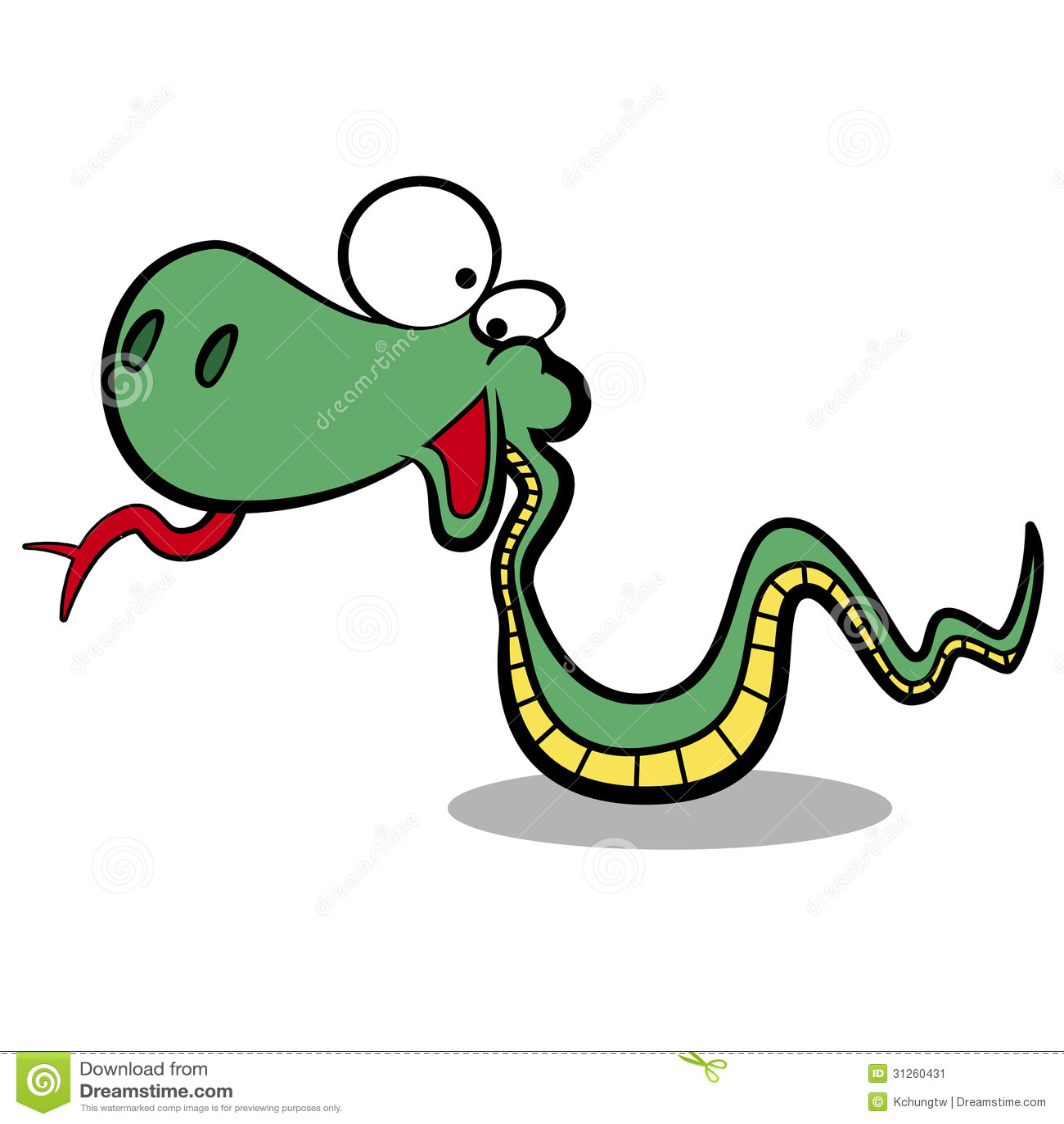 Humor kreskówki węża bieg