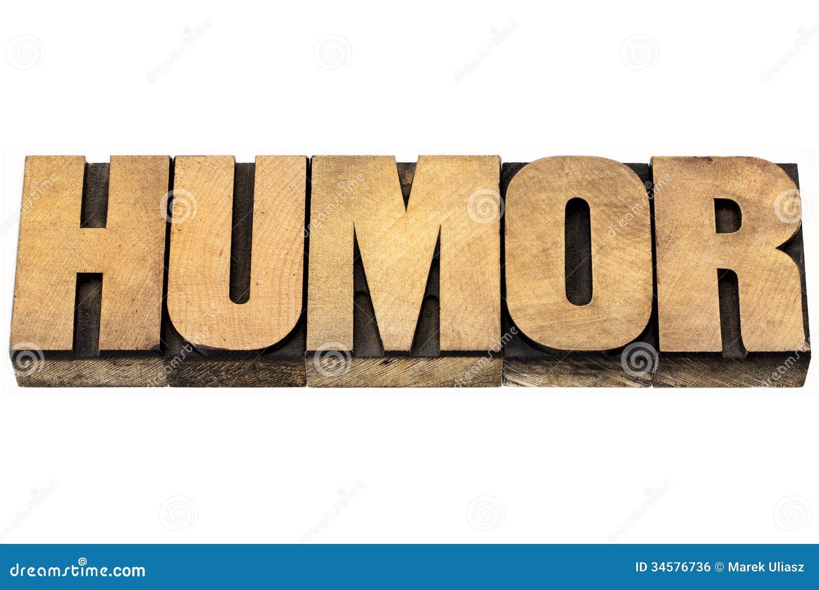 Humor word in wood type stock photo. Image of grain, text ...