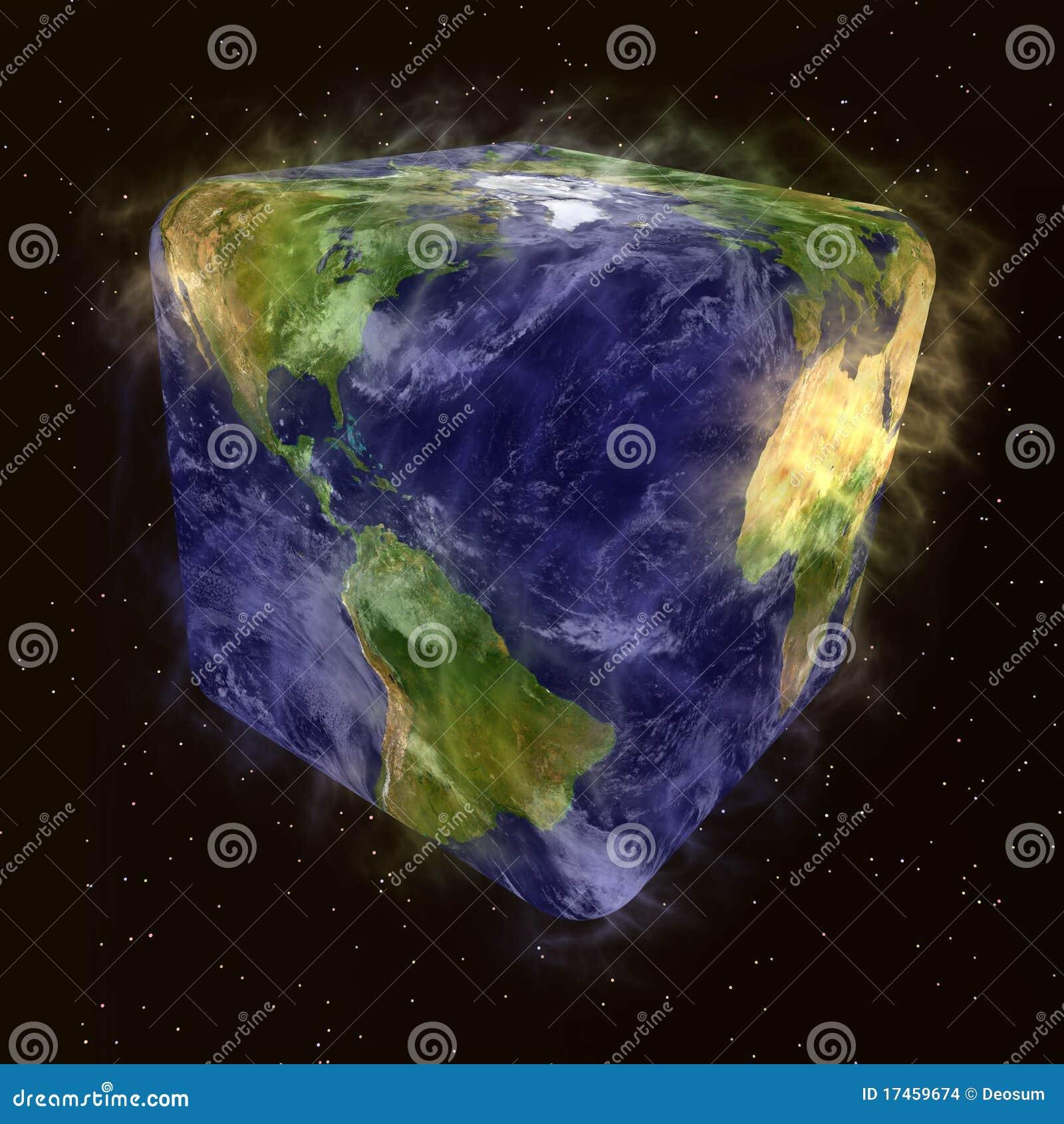 Humoristische transformatie van aarde met wolk stock afbeeldingen beeld 17459674 - Bank thuismarkten van de wereld ...