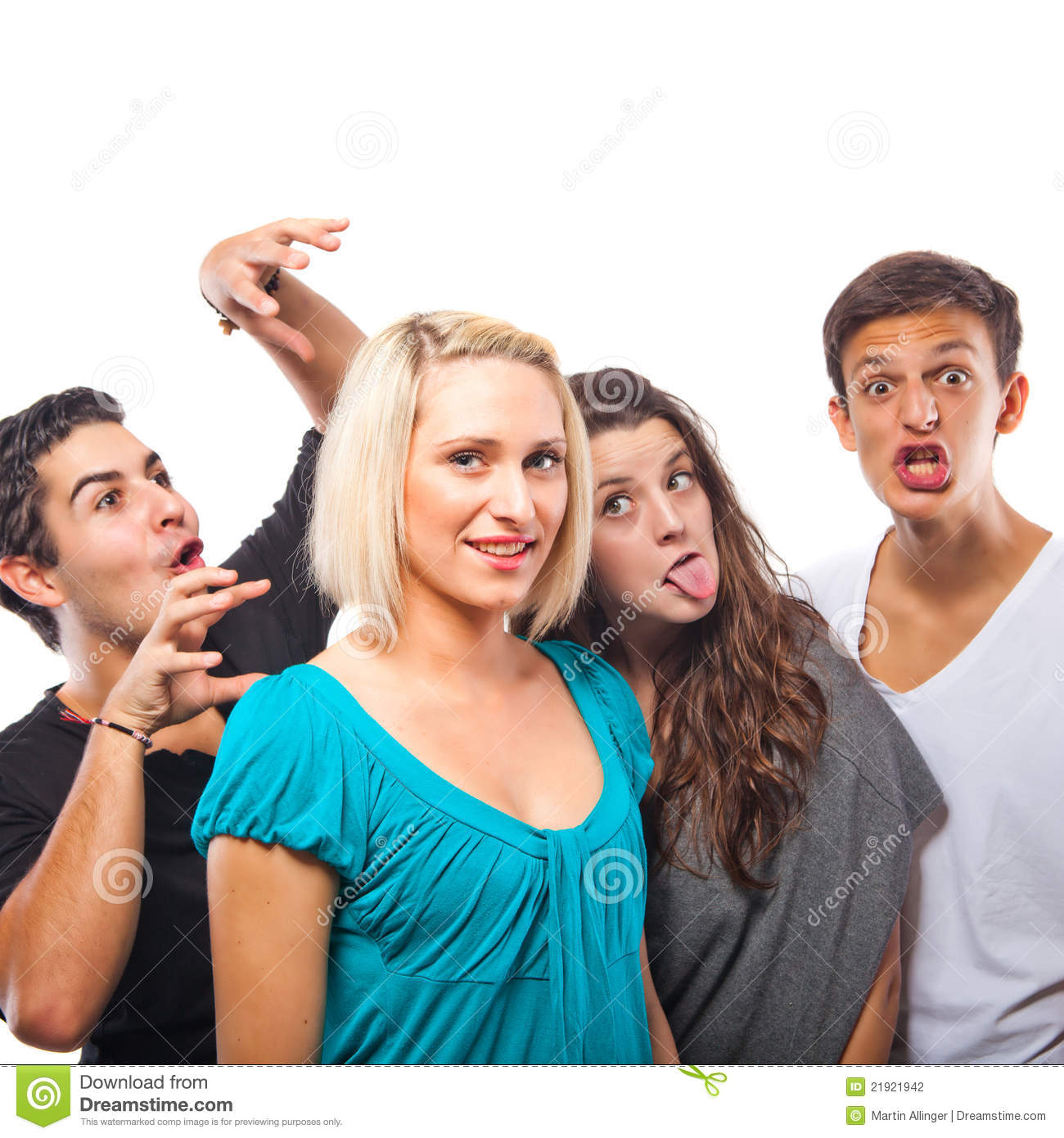 Humourus Funny Group Stock Photo. Image Of Around