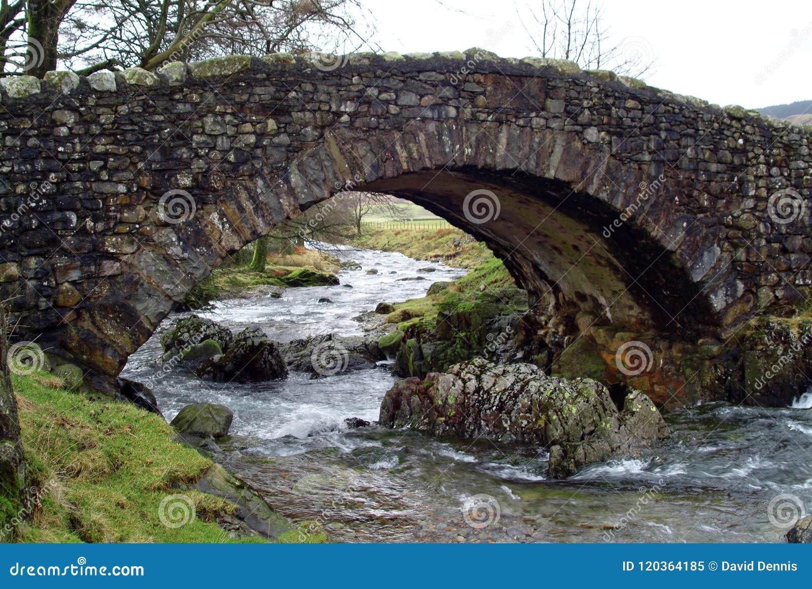 A humpback bridge in the English Lake District