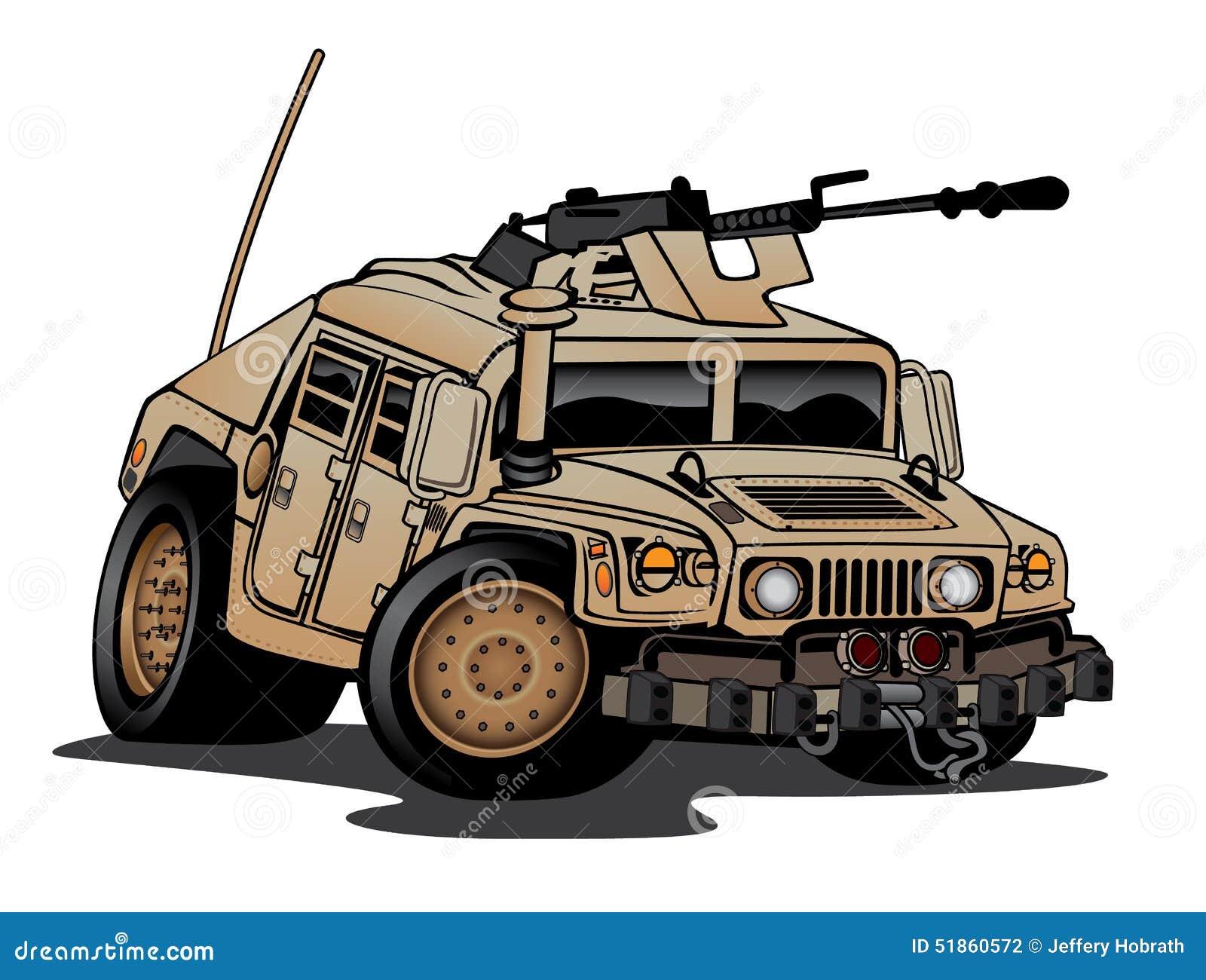 Humvee Military Truck Cartoon Stock Illustration Image