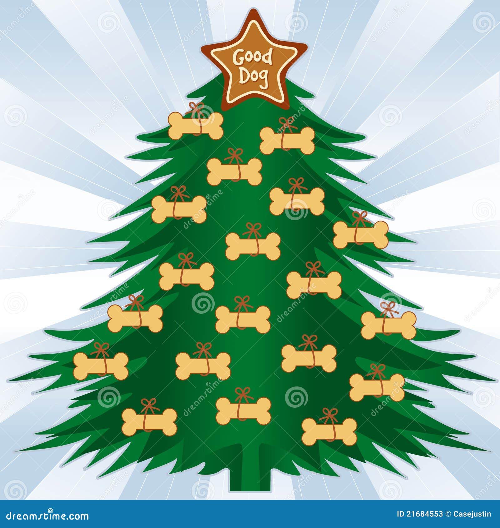 hundeknochen weihnachtsbaum stockfotos bild 21684553. Black Bedroom Furniture Sets. Home Design Ideas