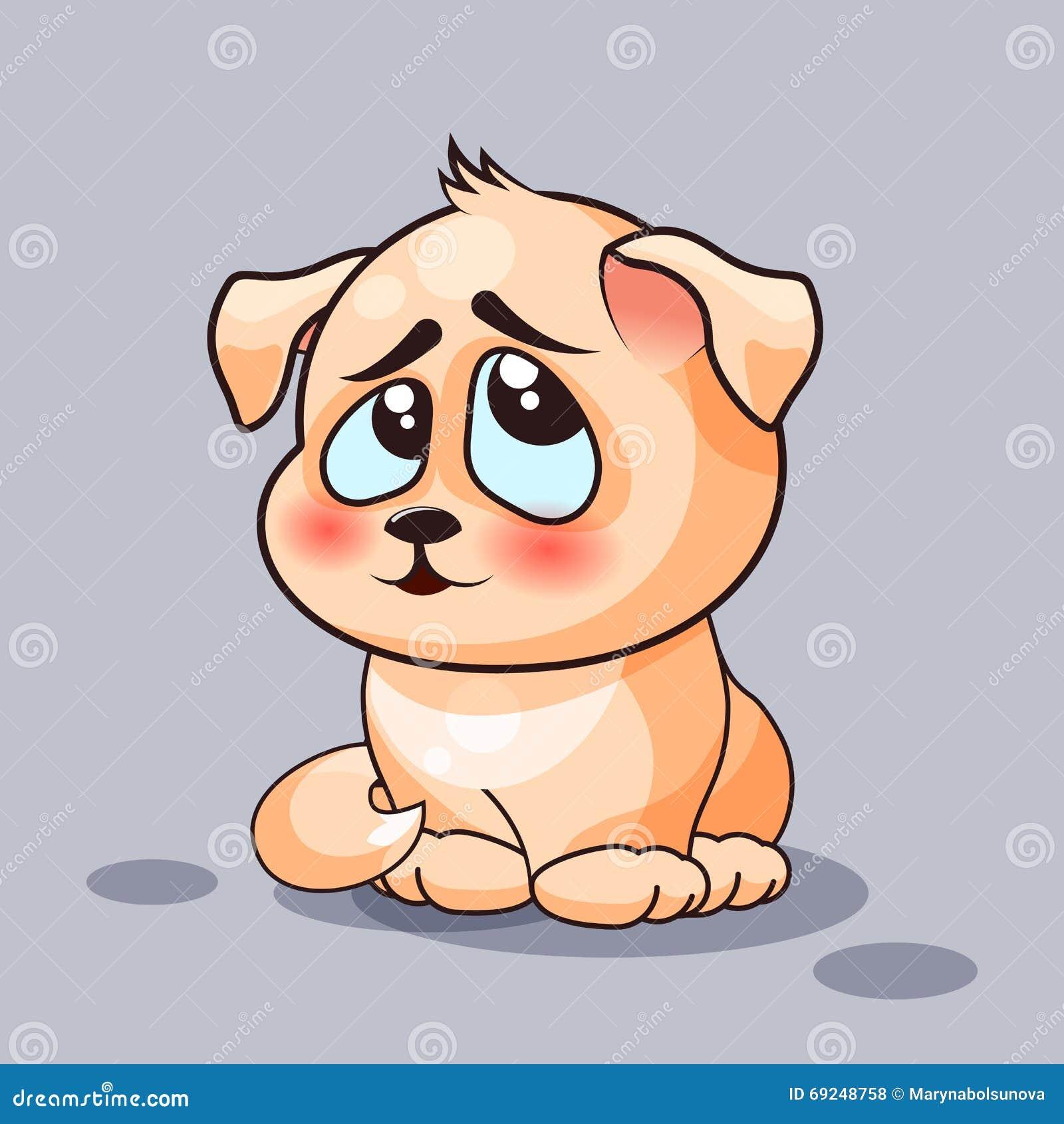 Hunden är förvirrad vektor illustrationer bild